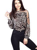 🌺 Трендовая блуза с анималистичным принтом