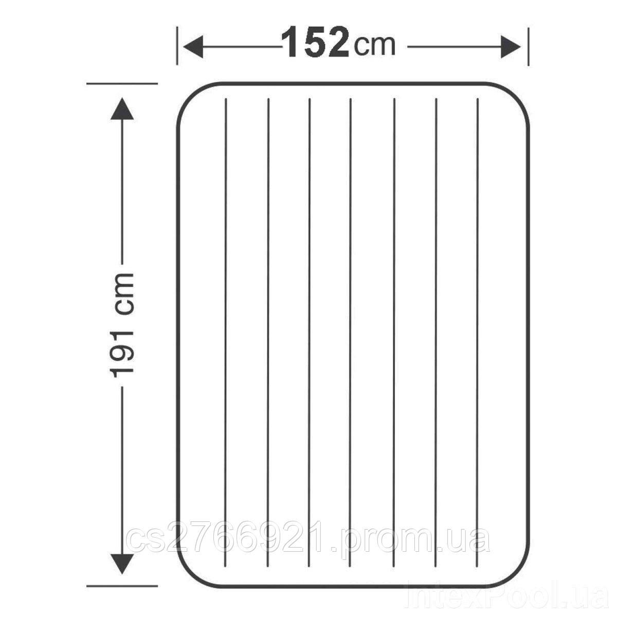 Надувной матрас Intex 68759, 152 х 203 х 22 см. Двухместный