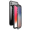 Магнитный чехол двусторонний для  iPhone X,8,8+,7,7+,6,6s,6+,6s+ черный, белый, красный, стеклянный прозрачный