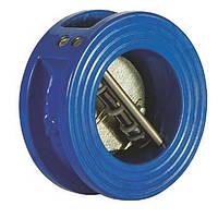 Клапан обратный межфланцевый чугунный двухстворчатый подпружиненный 174 IVR Ру16Ду 65