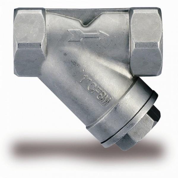 Фильтр сетчатый муфтовый нержавеющий, арт.657, IVR Ру40 Ду 40