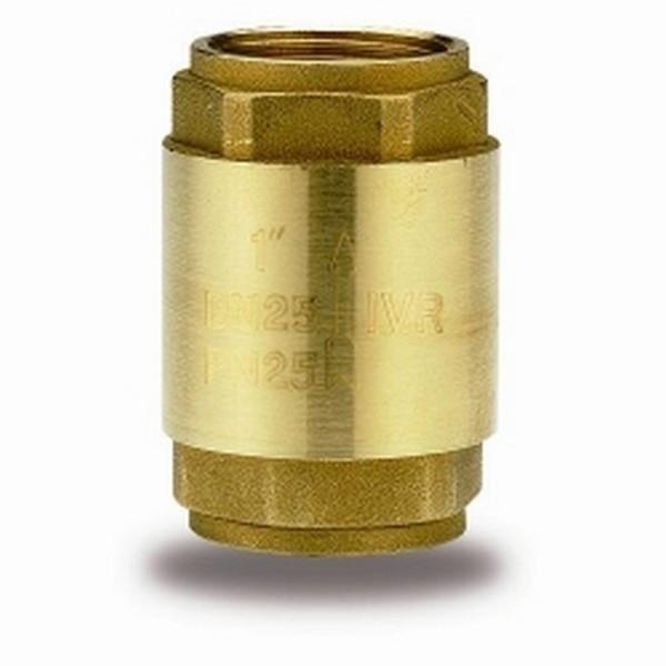 Клапан обратный муфтовый латунный арт 999H IVR Ру25 Ду 50