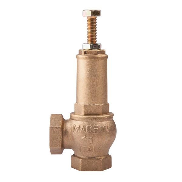 Клапан предохранительный латунный муфтовый подпружиненный ICMA (1-12 атм) Ду 15