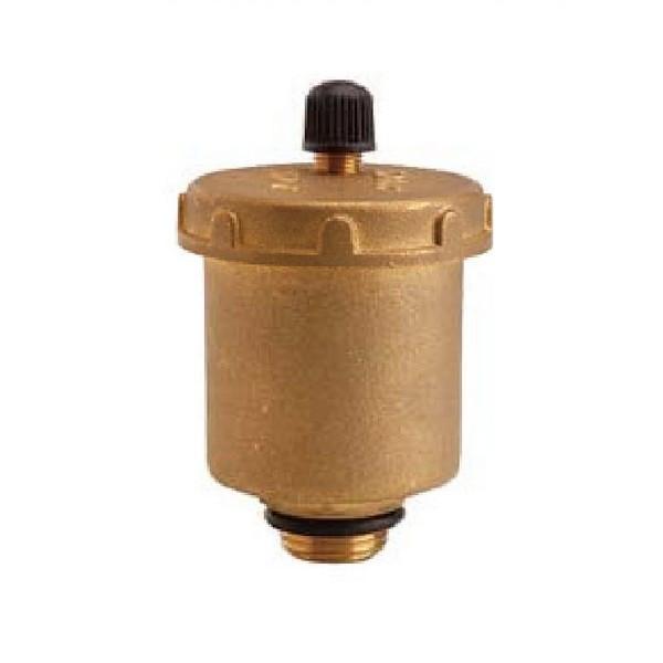 Клапан автоматический латунный муфтовый для стравливания воздуха Ру10 Ду 15