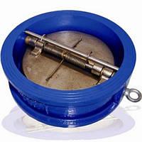 Клапан обратный межфланцевый чугунный с двухстворчатым нж диском арт С202 Ру16 К Ду 200