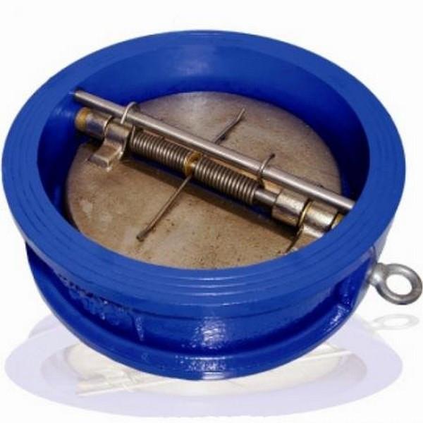 Клапан обратный межфланцевый чугунный с двухстворчатым нж диском арт С202 Ру16 К Ду 65