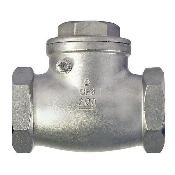 Клапан обратный муфтовый AISI 316 арт С321 Ру16 К Ду 15