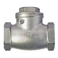 Клапан обратный муфтовый AISI 316 арт С321 Ру16 К Ду 20