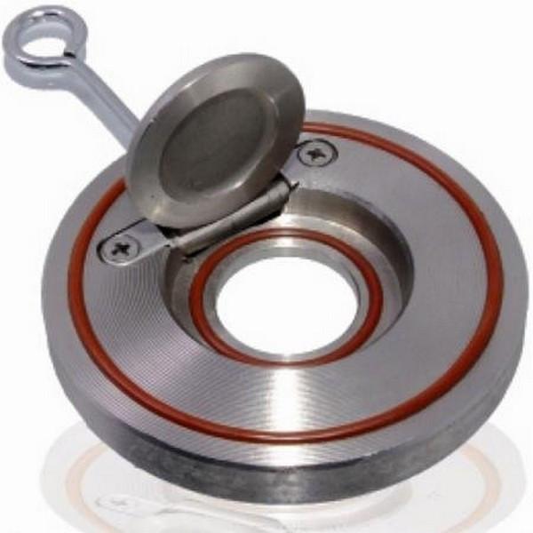 Клапан обратный межфланцевый одностворчатый AISI 316 арт С222 Ру16 К Ду 100