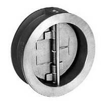Клапан обратный межфланцевый c двухстворчатым диском AISI 316 арт С221 Ру25 К Ду 100