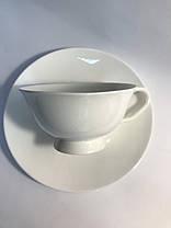 Чайный набор на 6 белых чашек ХОРЕКА Bailey Elegance по 250 мл, фото 2