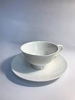Чайный набор на 6 белых чашек ХОРЕКА Bailey Elegance по 250 мл, фото 3