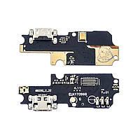 Разъём зарядки для ASUS ZenFone 3 Max (ZC553KL) на плате с микрофоном и компонентами