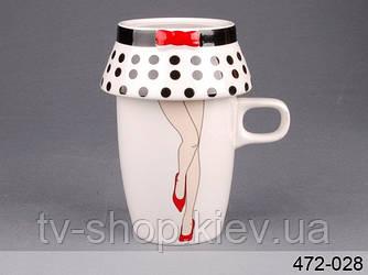 Чашка с пиалой Ножки в юбке