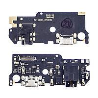 Разъём зарядки для MEIZU M6s на плате с микрофоном и компонентами