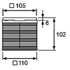 Верхняя вставка 100 мм без декоративной решетки TECE drainpoint S, фото 2