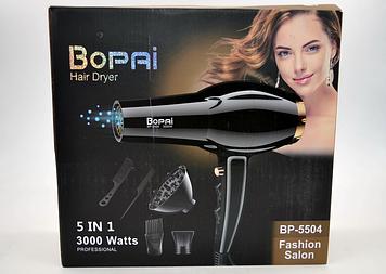 Фен для волос Bopai BP-5504 с диффузором 3000Вт