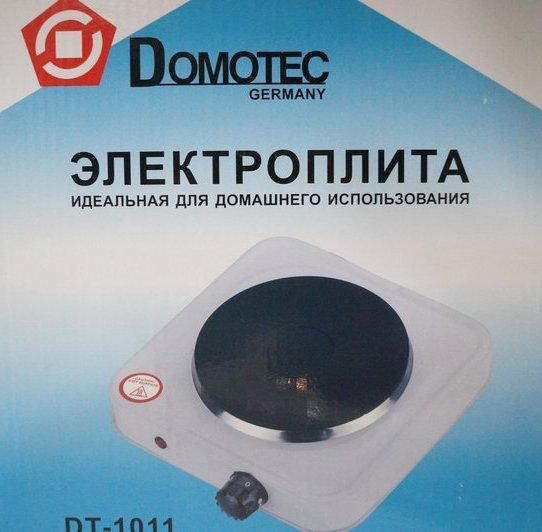 Електроплита 1 комфорка блін Domotec DT-1011 1000w