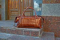 Коричневая сумка «Sport&Travel DS» для путешествий, Кожаная дорожная / спортивная сумка