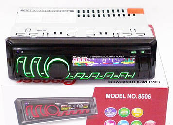 Автомагнітола 8506 USB флешка мульти підсвічування AUX FM