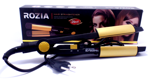 Плойка для завивки випрямляч для волосся Rozia HR705 2 в 1