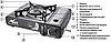 Портативна газова плита подвійної дії з адаптером в кейсі TIGER BSZ-188-A, фото 2