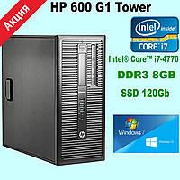 Системный блок HP 600 G1 (Tower)  Intel® Core™ i7-4770 \ DDR3 8Gb \ SSD 120 (Нова) Gb k.9080