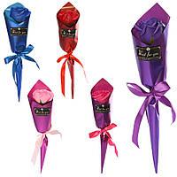 Аксессуары для праздника MK 3316 (192шт) цветы/роза, букет, 38см аром, 5цветов