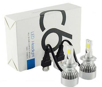 LED лампы для фар автомобиля LED Turbo С6-H7 6500К