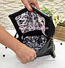 Сумка стильная женская кожаная, декорирована фурнитурой. Производство Украина, фото 4