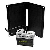 Портативная солнечная батарея-электростанция Fisher Solar 14W 7Ah