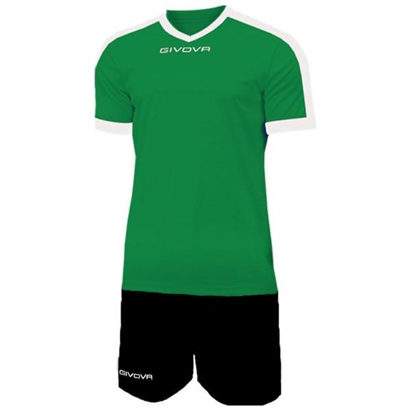 Футбольная форма Givova Revolution KITC59-1310 Зелено-черный Размер S (8034044691339)