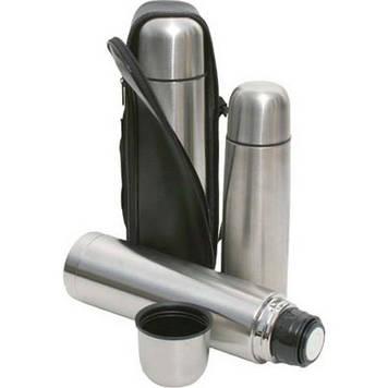 Термос металевий UN-1002, 0,5 л з чохлом