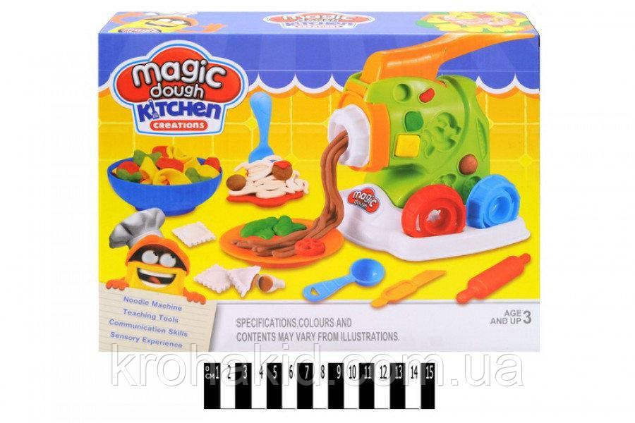 "Пластилин / тесто для лепки Magic Dough ""Машинка для лапши"" / Мясорубка / Фабрика спагетти "" 8082"