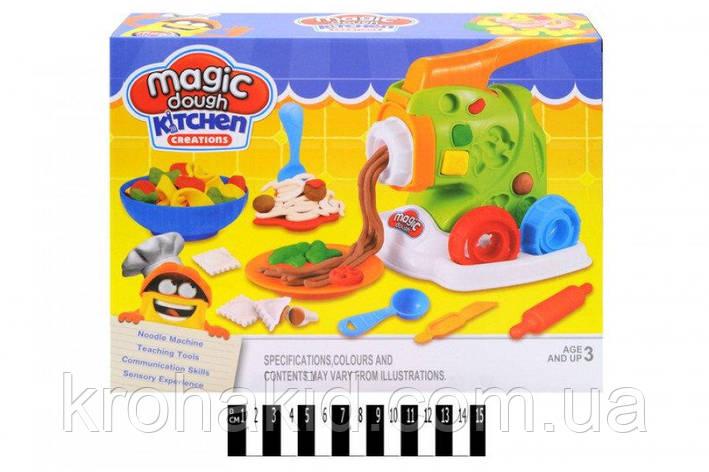 "Пластилин / тесто для лепки Magic Dough ""Машинка для лапши"" / Мясорубка / Фабрика спагетти "" 8082, фото 2"