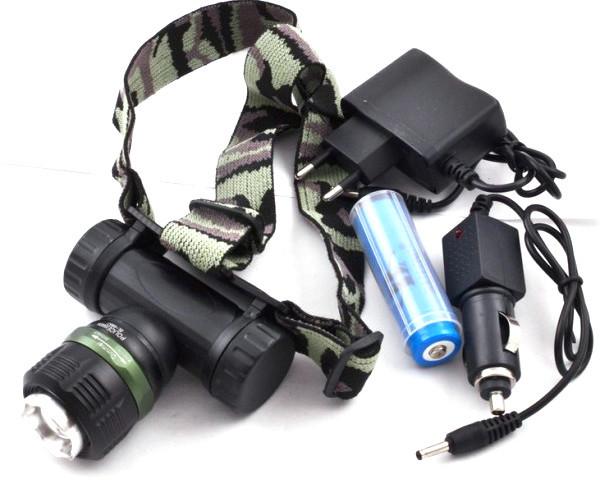 Ультрафіолетовий налобний ліхтарик Police BL-6957