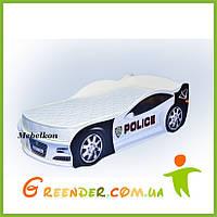 """Кровать-машина """"Полиция"""" в 2 цветах (ПОДАРОК!)"""