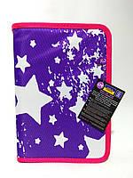 """Пенал для школи твердий """"Starry Violet"""", 1 відділення з 1 відворотом CF86605"""