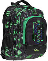 Рюкзак Safari  подростковый с ортопедической спинкой  Green  19-116L-7