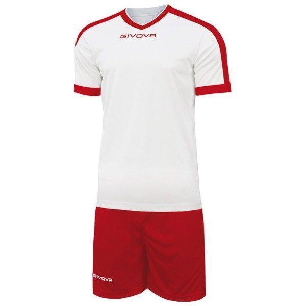 Футбольна форма Givova Revolution KITC59-0312 Біло-червоний Розмір L (8034044646315)