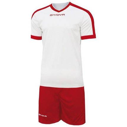 Футбольна форма Givova Revolution KITC59-0312 Біло-червоний Розмір L (8034044646315), фото 2