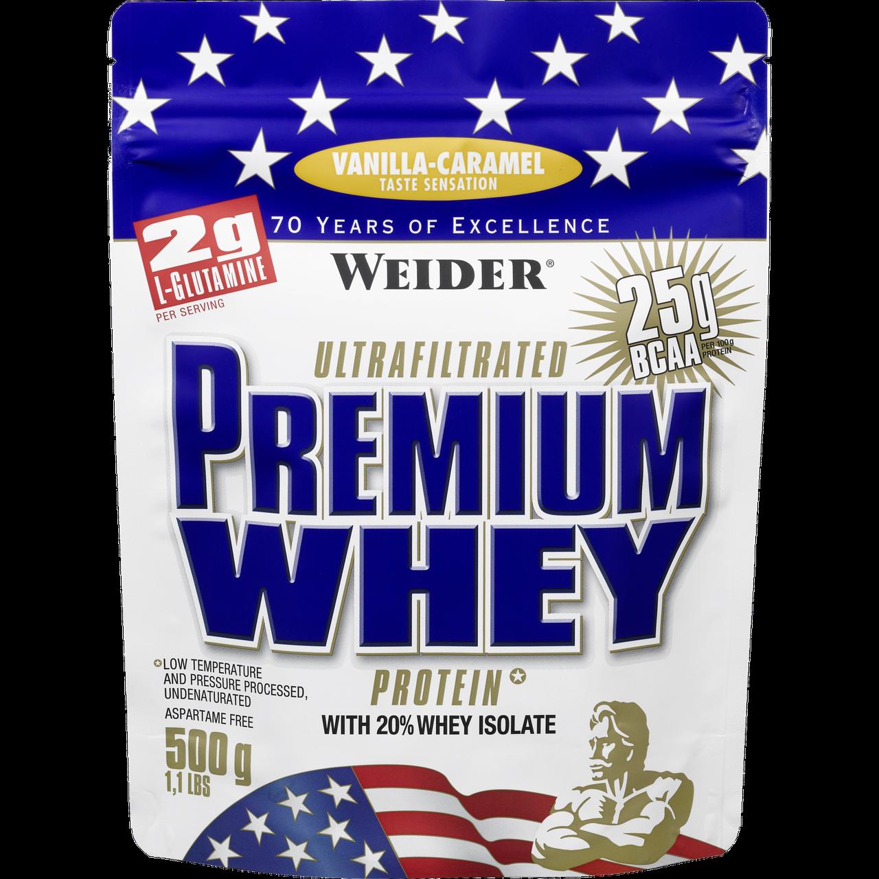 Сывороточный протеин концентрат Weider Premium Whey Protein (500 г) вейдер премиум вей  chocolate-nougat