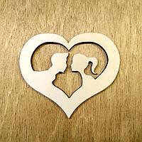 Деревянная праздничная открытка. Поздравительная открытка. Открытка ко дню Святого Валентина, фото 1