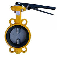 Затвор поворотний чавунний з нержавіючим диском Р-204 (AISI 304)