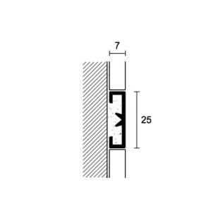 Алюминиевый профиль Profilpas Cerfix Prolist X Design, декоративная накладка для плитки 7*25*2700мм.