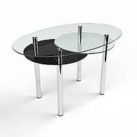 Стол кухонный стеклянный Лагуна. Цвет и размер можно изменять. Есть фотопечать и матировка.