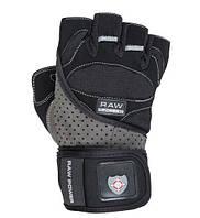 Перчатки для тяжелой атлетики Power System Raw Power PS-2850 S Black/Grey, фото 1