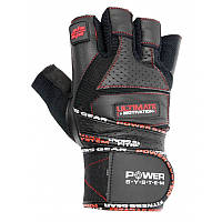 Перчатки для тяжелой атлетики Power System Ultimate Motivation PS-2810 S Black/Red, фото 1