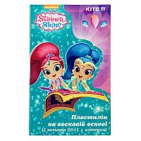 Пластилін восковий Kite Shimmer&Shine SH19-087  15 кольорів 225 г, фото 1