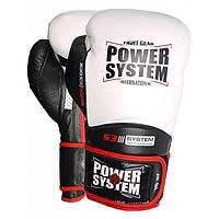 Перчатки для бокса PowerSystem PS 5004 Impact 16oz White, фото 1